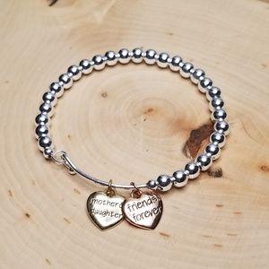 Mother & Daughter Friends Forever Bangle Bracelet